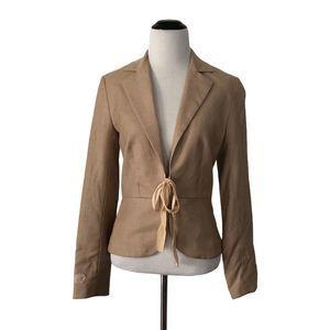 Rebecca Taylor 6 Tan Pink Textured Stripe Blazer